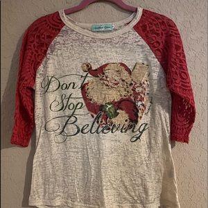 Southern Grace Christmas Santa Long Sleeve Shirt